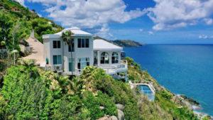 Mahogany Run villa on cliffside.
